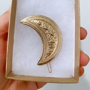 Star Print Crescent Moon Hair Clip